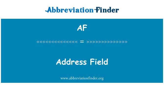 AF: Адрес за фактуриране