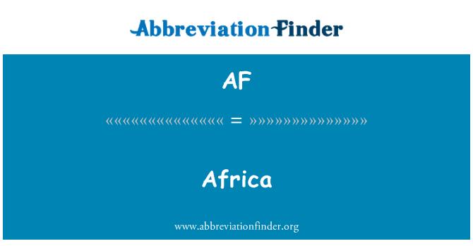 AF: Africa