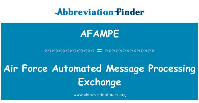 AFAMPE: Hava Kuvvetleri otomatik ileti Exchange işleme