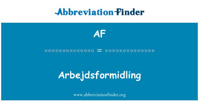 AF: Arbejdsformidling