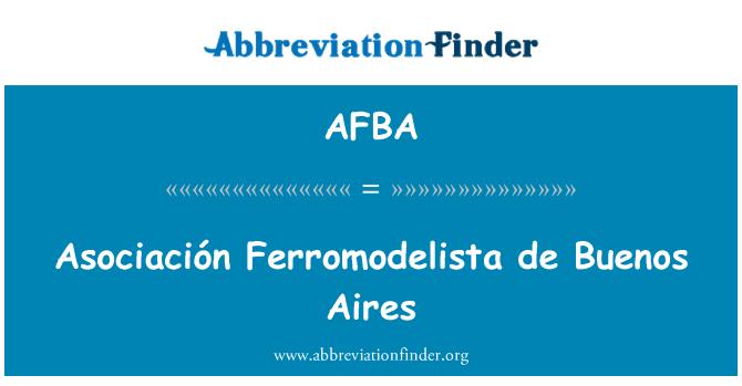 AFBA: Asociación Ferromodelista de Buenos Aires