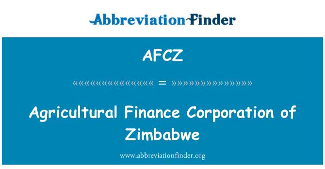 AFCZ: Perbadanan kewangan pertanian Zimbabwe