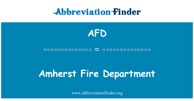 AFD: Amherst Fire Department