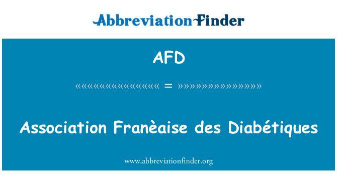 AFD: Association Franèaise des Diabétiques