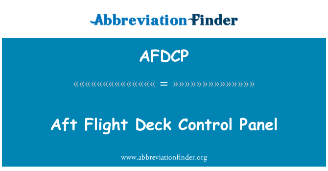 AFDCP: Panel de Control de popa cubierta de vuelo