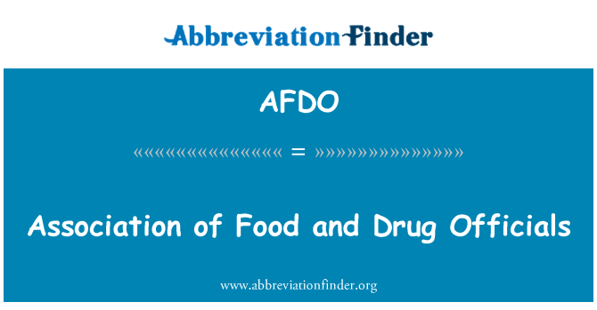 AFDO: Association of Food and Drug Officials