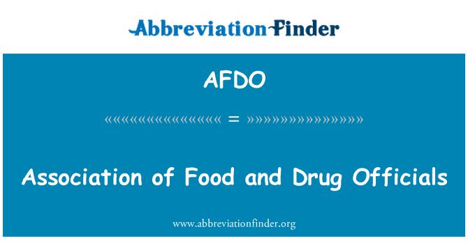 AFDO: انجمن غذا و دارو
