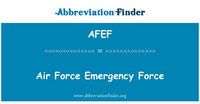 AFEF: Air Force Emergency Force