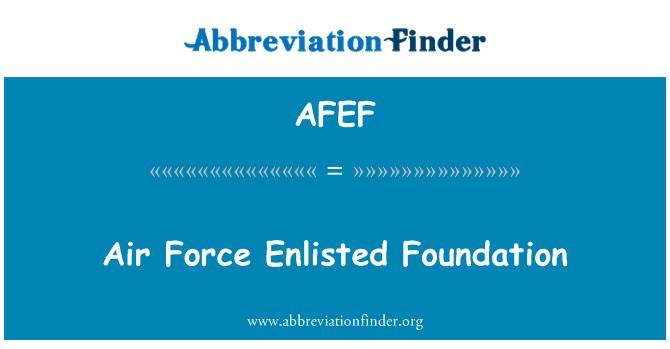 AFEF: Air Force Enlisted Foundation