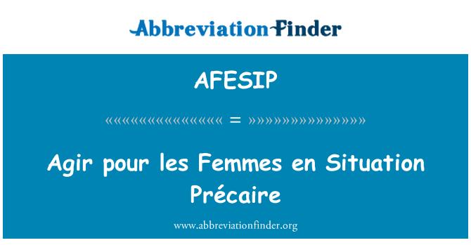 AFESIP: Agir pour les Femmes en Situation Précaire