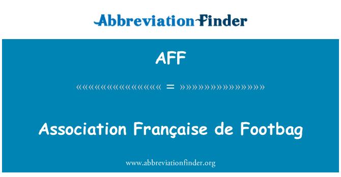 AFF: Association Française de Footbag