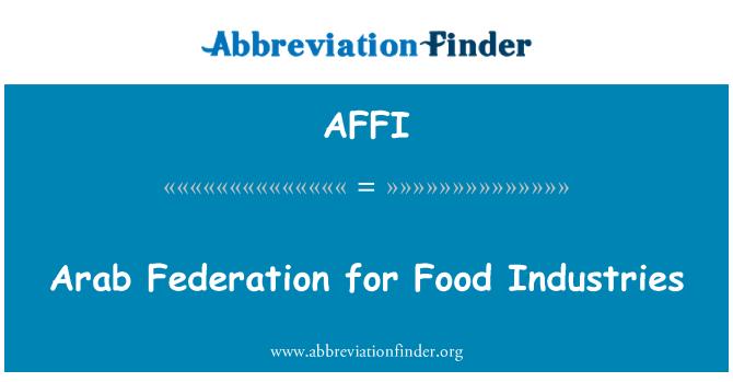 AFFI: Araabia Föderatsiooni toiduainetööstuses