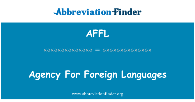 AFFL: Agency For Foreign Languages