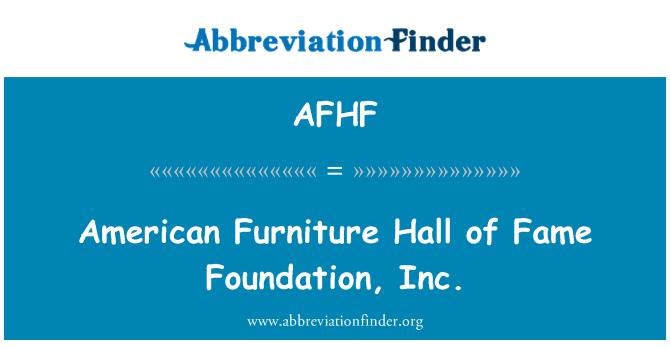 AFHF: Salón de la fama de muebles American Foundation, Inc.
