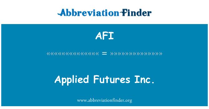 AFI: Applied Futures Inc.