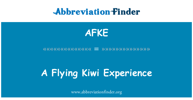 AFKE: A Flying Kiwi Experience