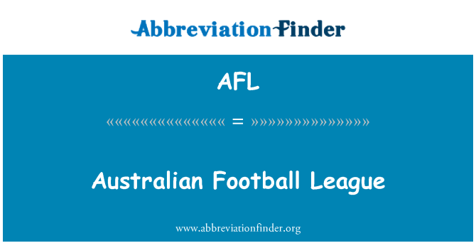 AFL: Australian Football League
