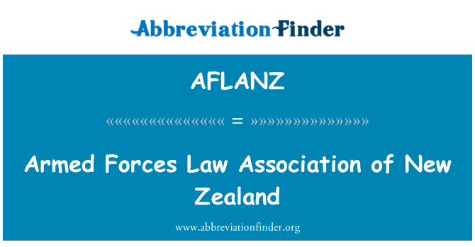 AFLANZ: Armed Forces Law Association of New Zealand