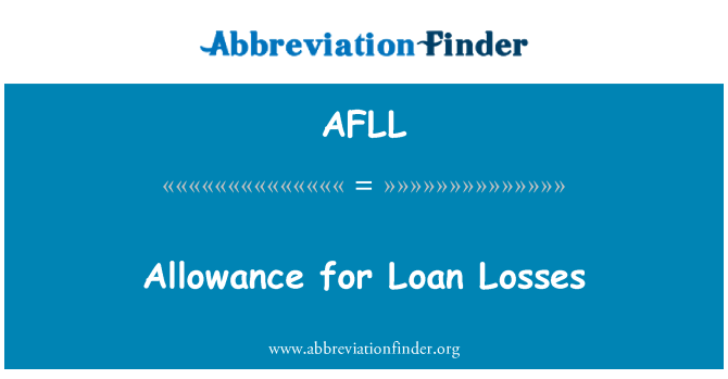 AFLL: Allowance for Loan Losses