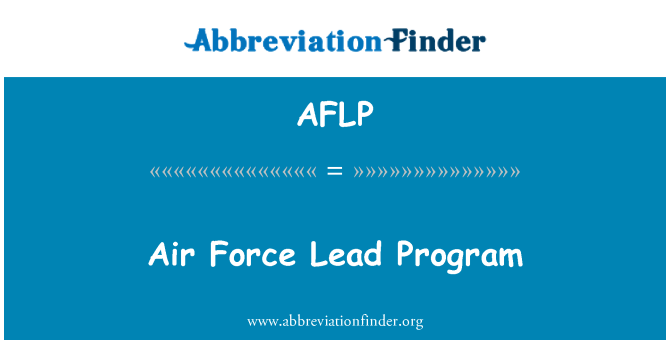 AFLP: Programa principal de la fuerza aérea