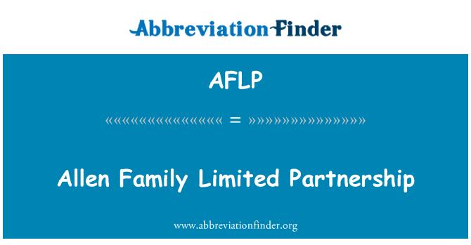 AFLP: Allen familia Limited Partnership