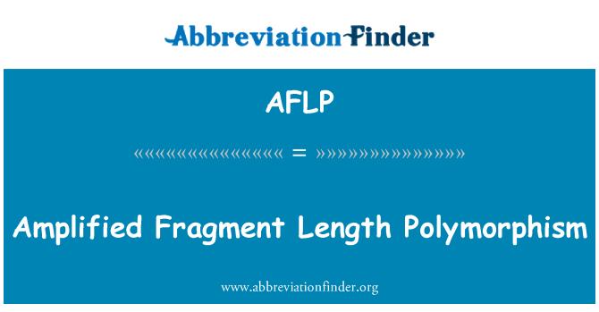 AFLP: Polimorfismo de la longitud del fragmento amplificado
