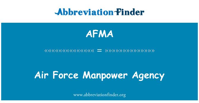 AFMA: Agencia de personal de la fuerza aérea