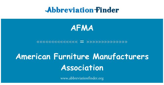 AFMA: Asociación de fabricantes de muebles americanos