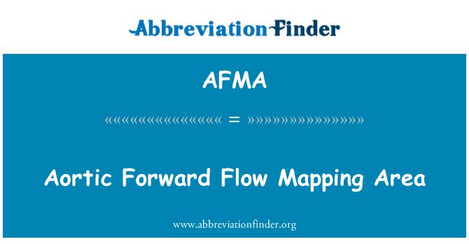 AFMA: Flujo aórtico delantero asignación de zona