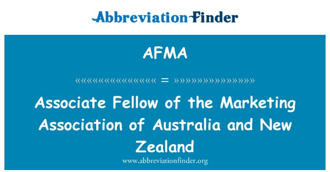 AFMA: Associate Fellow de la Asociación de Marketing de Australia y Nueva Zelanda