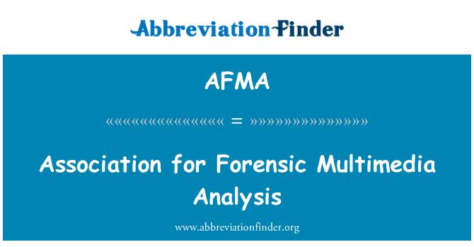 AFMA: Asociación para el análisis forense de Multimedia
