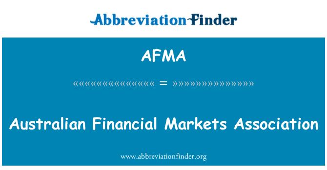 AFMA: Asociación australiana de los mercados financieros