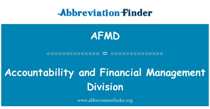 AFMD: Hesap verebilirlik ve finansal yönetim bölümü