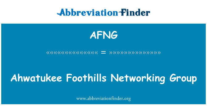 AFNG: Ahwatukee Foothills Networking Group