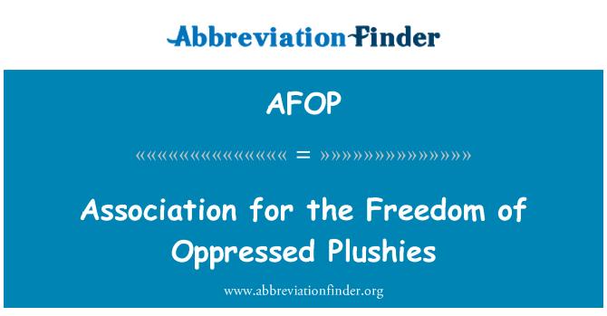 AFOP: Association pour la liberté des opprimés peluches