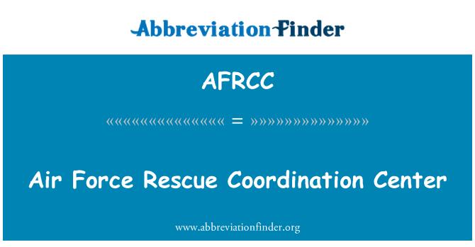 AFRCC: Air Force Rescue Coordination Center
