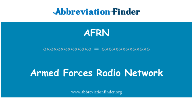AFRN: Armed Forces Radio Network