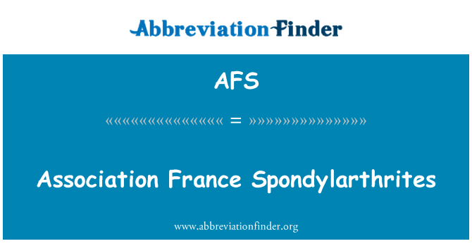 AFS: Association France Spondylarthrites