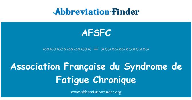 AFSFC: Association Française du Syndrome de Fatigue Chronique