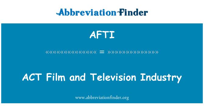 AFTI: ACT sinema ve televizyon sektörü