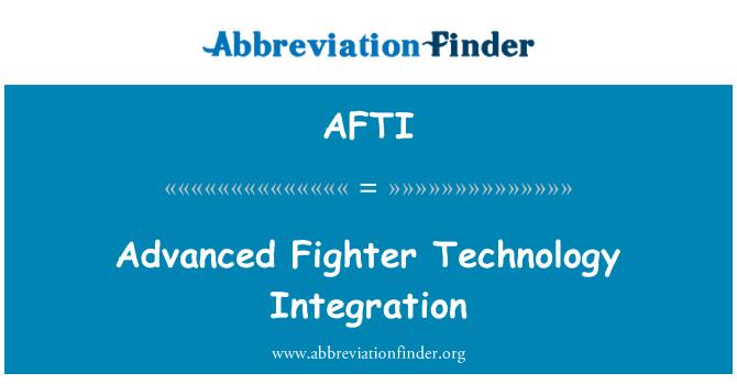 AFTI: Gelişmiş avcı Teknoloji entegrasyonu