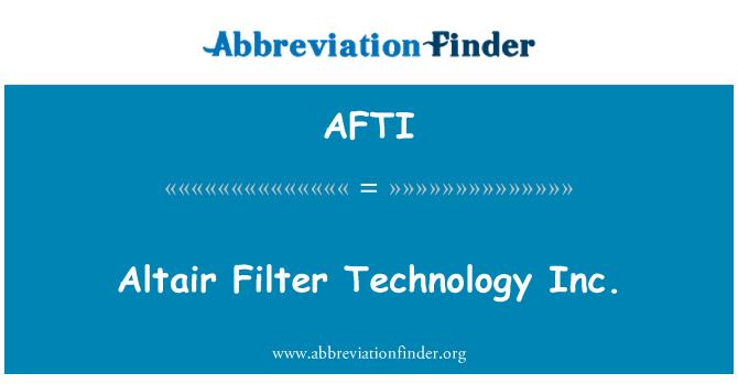 AFTI: Altair filtre teknoloji A.ş.