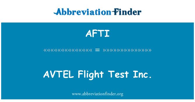 AFTI: AVTEL Uçuş Test A.ş.
