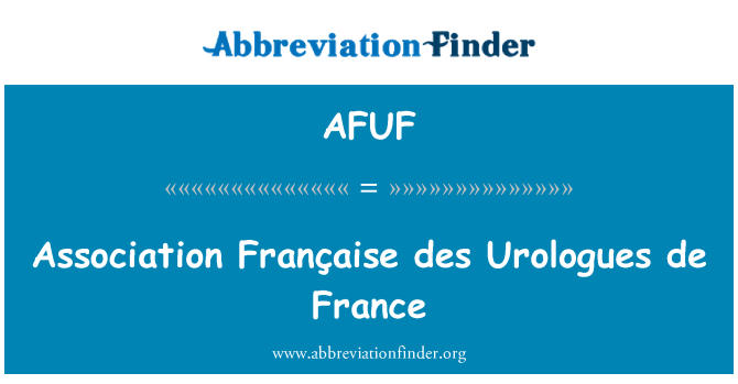 AFUF: Association Française des Urologues de France