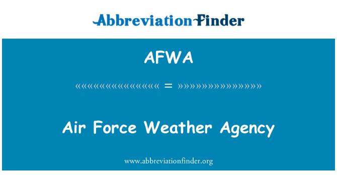 AFWA: Hava Kuvvetleri hava ajansı