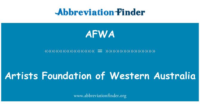 AFWA: Kunstnikud Sihtasutus Lääne-Austraalia