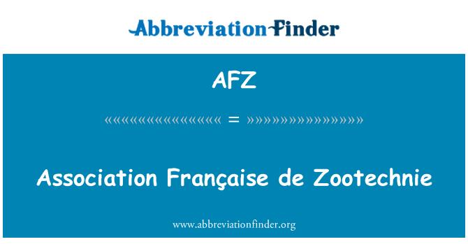 AFZ: Association Française de Zootechnie