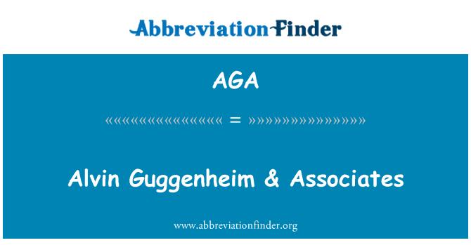 AGA: Alvin Guggenheim & Associates