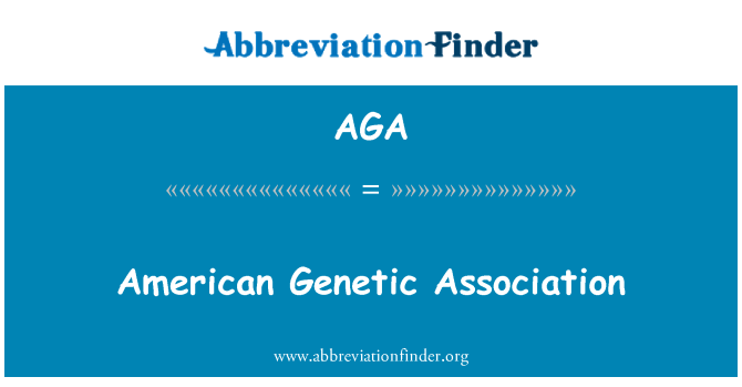 AGA: American Genetic Association