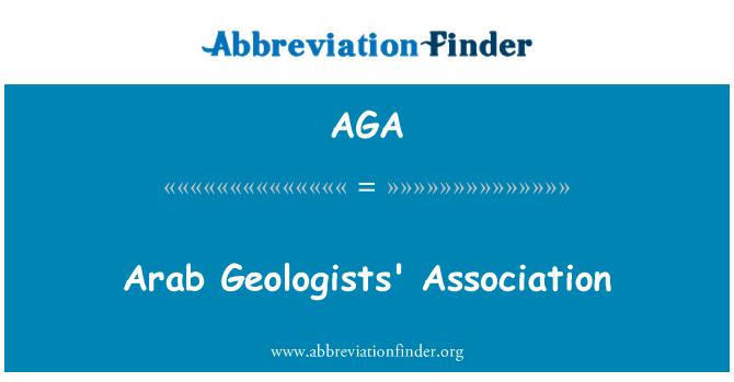 AGA: Arab Geologists' Association